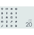 Set of tavern icons vector image vector image