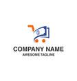 shopping money logo financial shop icon logo vector image vector image