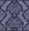 snake skin colorful animal blue seamless pattern vector image vector image