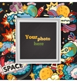 space photo frame vector image vector image