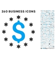Sparkle Dollar Icon with Flat Set vector image vector image
