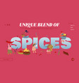 spice and seasoning website landing page women vector image vector image