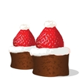 Strawberry chocolate cakes vector image vector image