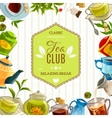 Tea Club Poster vector image vector image