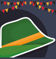 traditional german hat icon vector image