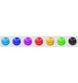 transparent colored spheres with shadows vector image vector image
