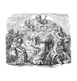 vintage drawing biblical noe and his sons vector image