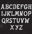 vintage hand drawn font vector image