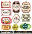 vintage labels collection set vector image vector image
