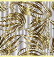 vintage ornate gold 3d seamless pattern vector image