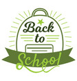 welcome back to school sign in green colors with vector image