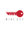 wine key concept with bottles design template vector image vector image