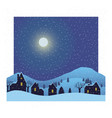 winter village night background vector image