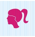 woman silhouette design vector image vector image