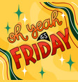yellow friday lettering vector image vector image