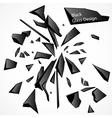 Broken Glass Black Drawing vector image
