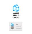 blue house transparent lines building home vector image