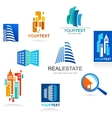 Collection of real estate icons and elements vector image