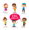 teen preteen kids cartoon characters vector image