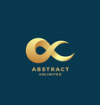 Abstract infinity sign emblem or logo