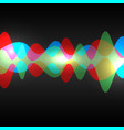 abstract speaking sound wave vector image vector image