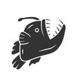 anglerfish glyph icon swimming goosefish vector image vector image