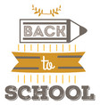 back to school emblem education logo sign vector image vector image