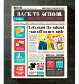 Back to School Sales Promotional Design Template vector image vector image
