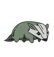 badger cartoon hand drawn image vector image