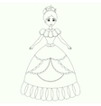 Beautiful princess coloring book page vector image vector image