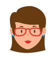 beautiful teacher female head avatar character vector image