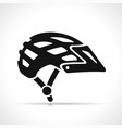 bike helmet icon symbol vector image vector image
