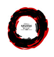 black and red ink round stroke on white vector image