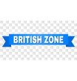 blue ribbon with british zone title vector image