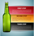 Bottle beer infographics icon isolated on blue vector image vector image