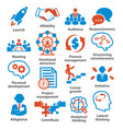 business management icons pack 01 vector image vector image