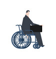 businessman handicapped in wheelchair manager vector image