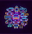 car transport neon concept vector image vector image