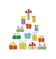 Christmas tree with gift boxes for your design vector image