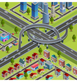 City Roads Junction Interchange Isometric Poster vector image vector image