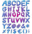 Colourful big letters of the alphabet vector image