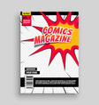 comic magazine book cover template vector image