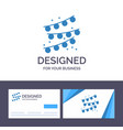 creative business card and logo template buntings vector image