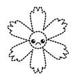 cute sticker flower kawaii cartoon vector image vector image