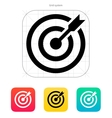 Darts target aim icon Successful shoot vector image vector image