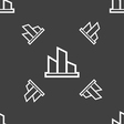 Diagram icon sign Seamless pattern on a gray vector image