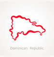 dominican republic - outline map vector image vector image