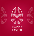 easter egg with linear geometric decor on vector image vector image