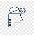 empathy concept linear icon isolated on vector image