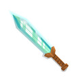 fantasy broadsword in cartoon style vector image vector image